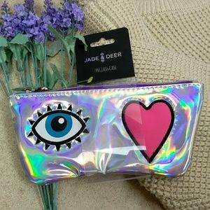 Handbags - Holographic Eyeglass Case/Mini Cosmetic Makeup Bag
